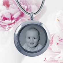 Circular Glass Double-Sided Photo Pendant - Unique Mother's Day Gift or Gift For Grandma